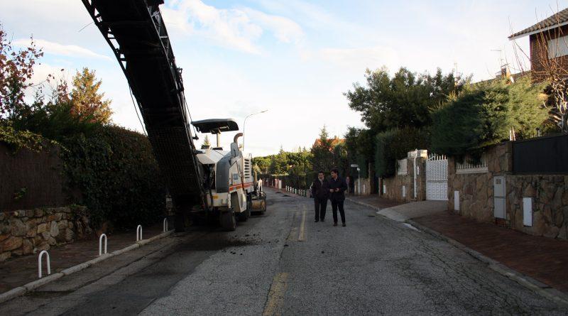 obras de asfalto de Parquelagos