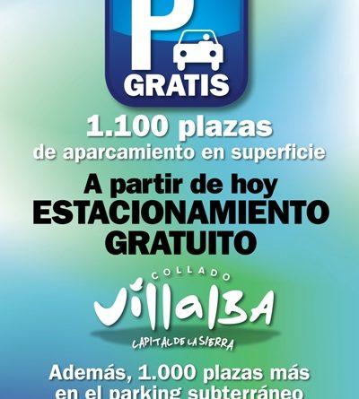 aparcamiento gratuito collado villalba