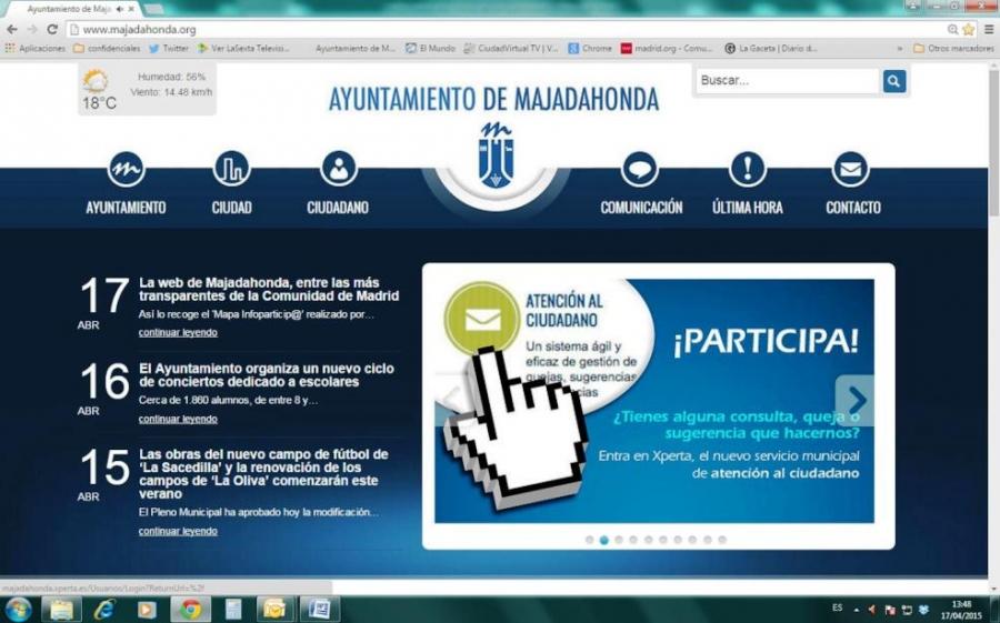 web de Majadahonda