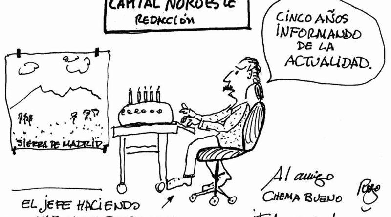 viñeta 5aniversario por Manuel Royo