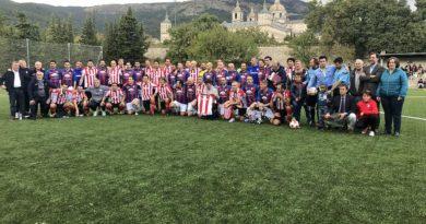 Veteranos de la UD San Lorenzo y Athletic Club de Bilbao.