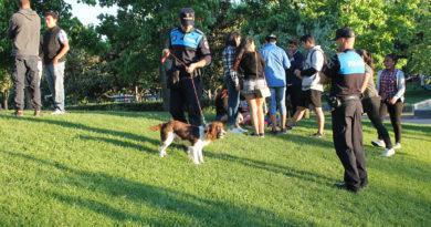 Unidad Canina de la Policía Local.