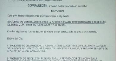 Ahora El Escorial, PSOE e IU solicitan reprobar a dos concejales del Gobierno escurialense