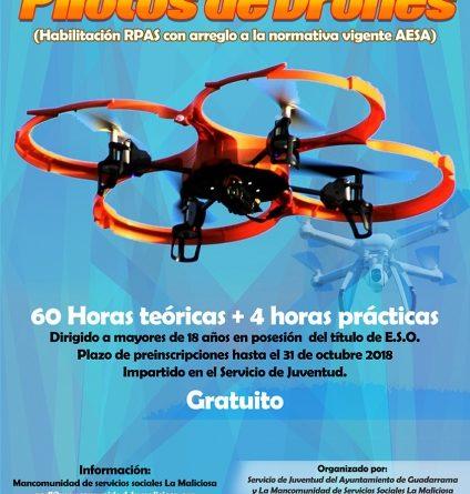 Curso avanzado de piloto de drones en Guadarrama.
