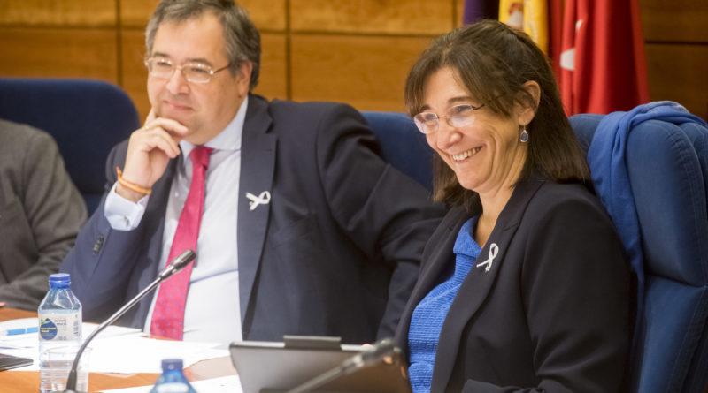 La alcaldesa de Pozuelo de Alarcón, durante el Pleno.