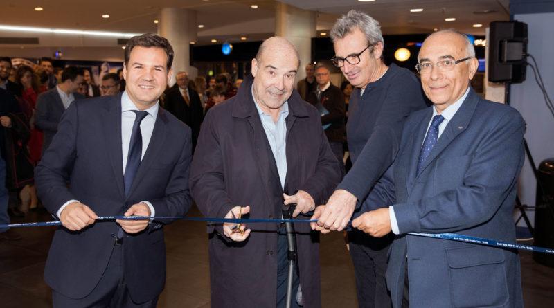 El alcalde de Las Rozas, José De la Uz; Antonio Resines; el presidente de la Academia de Cine, Mariano Barroso y el director de Relaciones Institucionales de Cinesa, Tomás Junquera.