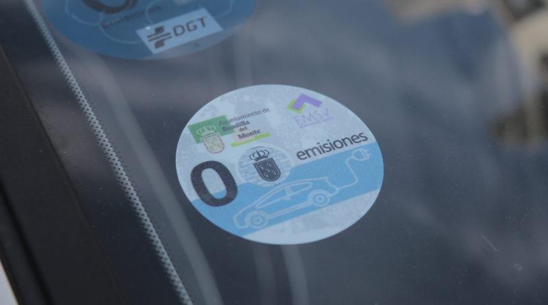 Distintivo de los vehículos identificados como 'cero emisiones'.