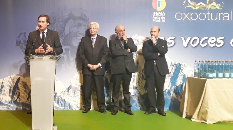 El viceconsejero de Cultura, Álvaro Ballarín, en la inauguración de Expotural.