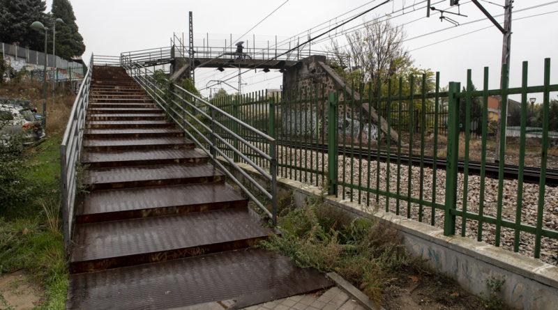 Estado actual de la pasarela del Paseo de la Concepción.