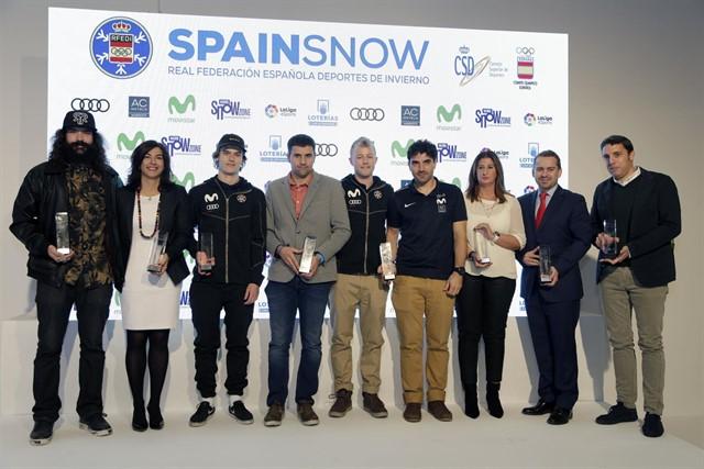 Los premiados en la segunda edición de los Premios Nacionales de los Deportes de Nieve.