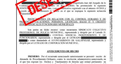 Los tribunales dan la razón a Galapagar frente a los sindicatos policiales