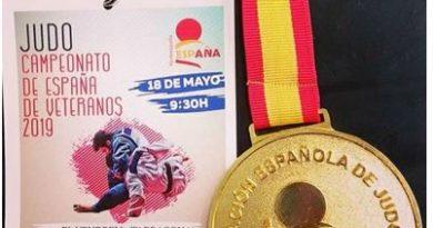 Rubén González, Campeón de España de Veteranos de Judo en M2 -73 kg