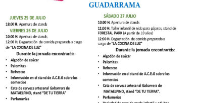 Cartel de actividades de la VIII Feria del Stock.