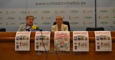 La alcaldesa de Collado Villalba, Mariola Vargas y el concejal de Festejos, José Colmenero, en la presentación de las fiestas de Santiago Apóstol.