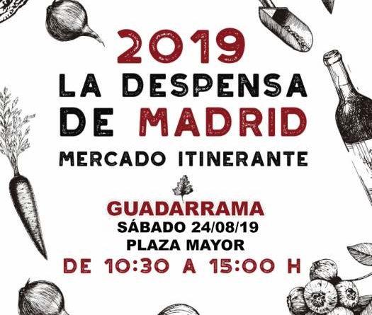 Cartel del mercado itinerante 'La Despensa de Madrid'.