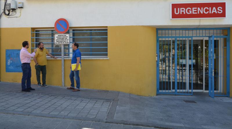 El Centro de Salud dispone de una plaza para el descenso de pacientes.