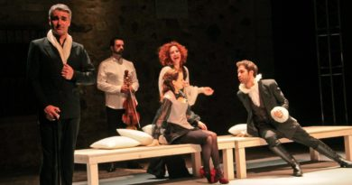 Escena de la obra de teatro Desengaños amorosos