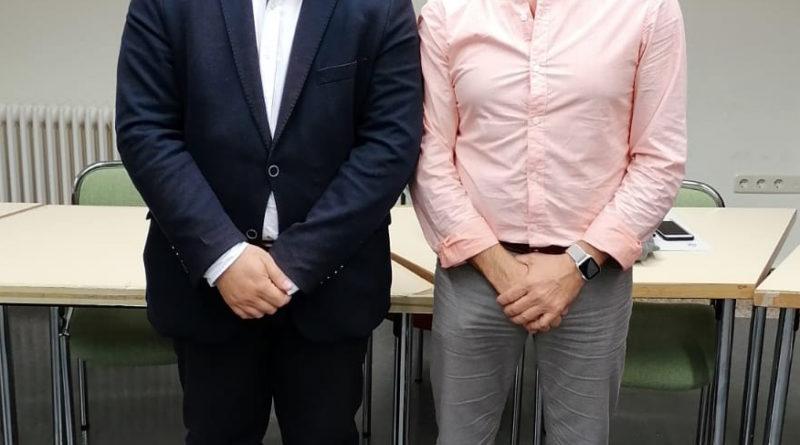 Los alcaldes de Moralzarzal, Juan Carlos Rodríguez Osuna, y de Galapagar, Alberto Gómez