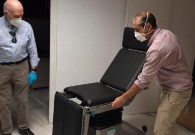 La Comunidad de Madrid instala una nueva mesa quirúrgica para la enfermería de la plaza de toros de  Las Ventas