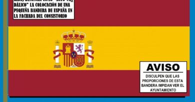La bandera de T-O-D-O-S los españoles