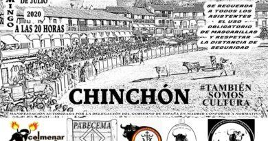 Paseo taurino en Chinchón el domingo 5 de julio a las 20.00 h.