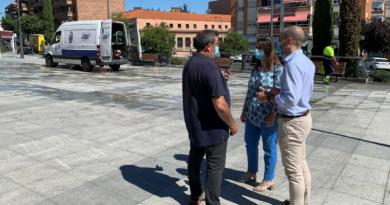 Majadahonda inicia un plan especial  de limpieza  en los espacios más transitados