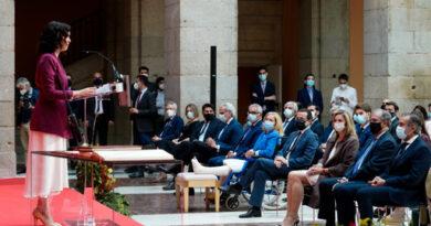 La presidenta de la Comunidad de Madrid, Isabel Díaz Ayuso, ha presidido hoy la toma de posesión de los nueve consejeros que conforman su nuevo Gobierno en la XII Legislatura