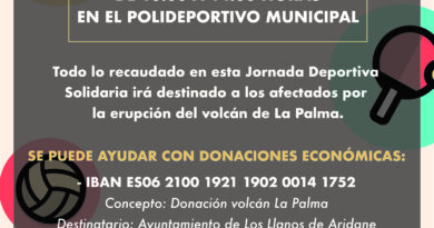 El Ayuntamiento de Galapagar organiza mañana una jornada deportiva por La Palma